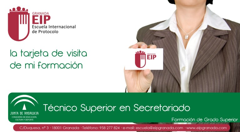 la tarjeta de visita de mi formación secretariado