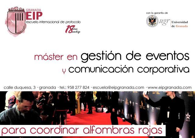 para coordinar alfombras rojas master de gestión de eventos
