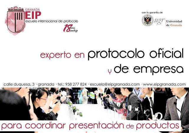 para coordinar presentación de productos experto en protocolo